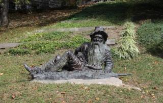 statue in an Irvington park