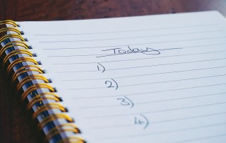to do list for today in a notebook