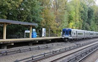 train tracks with a train