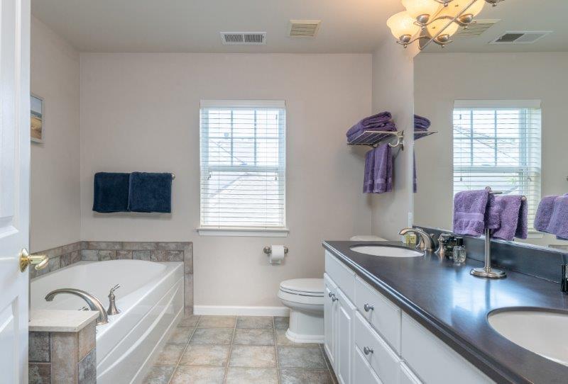 bathroom with comfortable tub