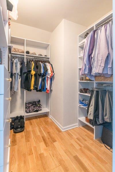 large, walk-in closet