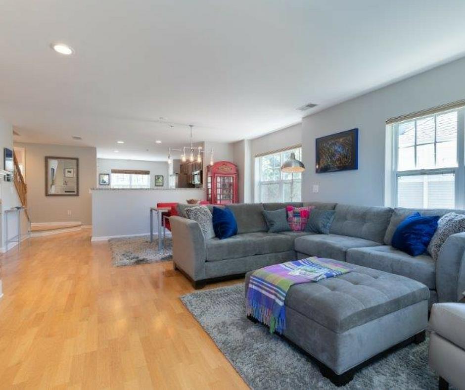 bright, light living room