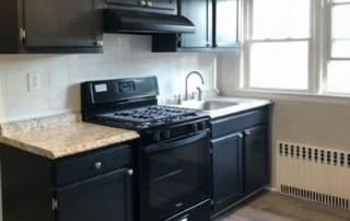 dark, modern kitchen
