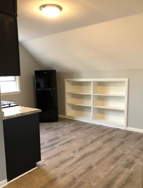 build in bookshelves in an attic room
